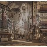 Luxusní vliesové fototapety Yokohama - sépie, rozměr 279 cm x 270 cm