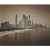 Luxusní vliesové fototapety Dubai - sépie, rozměr 325,5 cm x 270 cm