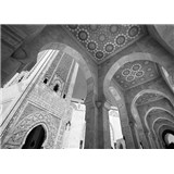 Luxusní vliesové fototapety Casablanca - černobílé, rozměr 372 cm x 270 cm