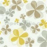Vliesové tapety na zeď Modern Line - květy žluté - POSLEDNÍ KUS