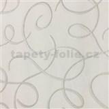 Vliesové tapety na zeď Collection 2 stříbrné vlnky s bílými konturami na bílém podkladu