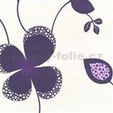 Tapety na ze� Confetti - velk� kv�ty - tmav� fialov�