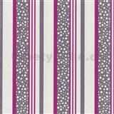 Tapety na ze� Confetti - pruhy fialovo-r�ov�