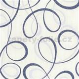 Tapety na zeď Confetti - stuhy modré
