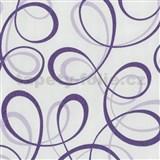 Tapety na zeď Confetti - stuhy fialové