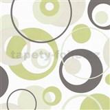 Tapety na zeď Confetti - bubliny zelené
