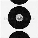 Vliesové tapety na zeď Dieter Bohlen - vinylová deska černá - SLEVA