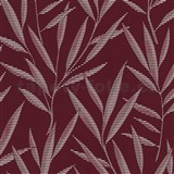 Tapety na zeď Dieter Bohlen - bambusové listy červené - SLEVA