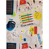Ubrus návin 20 m x 140 cm školní motiv
