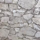 Vliesové tapety na zeď Einfach Schoner 3 kámen skládaný hnědý