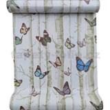 Samolepící fólie břízy s barevnými motýli 45 cm x 10 m