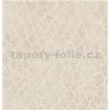 Luxusní vliesové tapety na zeď Merino abstrakt na metalicky světle hnědém podkladu