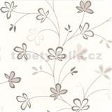 Tapety na zeď Novara - květy hnědé