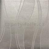 Papírové tapety na zeď vlnovky šedé