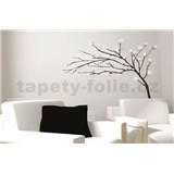 Samolepky na zeď strom s bílými květy