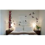 Samolepky na stěnu motýli s květy