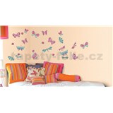 Samolepky na stěnu motýli