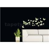 Samolepky na stěnu motýli - ve tmě svítí