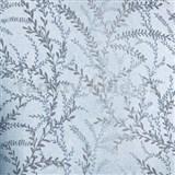 Vliesové tapety na zeď Seasons lístky hnědé na modrém podkladu