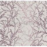 Vliesové tapety na zeď Seasons lístky vínově červené na béžovém podkladu