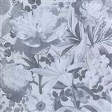 Vliesové tapety na zeď Seasons květy šedé