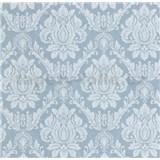 Vliesové tapety na zeď Seasons zámecký vzor bílý na modrém podkladu