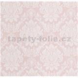 Vliesové tapety na zeď Seasons zámecký vzor bílý na růžovém podkladu