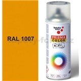 Sprej žlutý lesklý 400ml, odstín RAL 1007 barva chromově žlutá lesklá