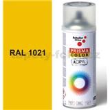 Sprej žlutý lesklý 400ml, odstín RAL 1021 barva kadmiově žlutá lesklá