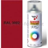 Sprej červený lesklý 400ml, odstín RAL 3002 barva karmínově červená lesklá