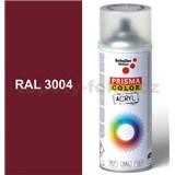 Sprej červený lesklý 400ml, odstín RAL 3004 barva purpurově červená lesklá