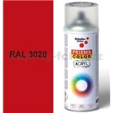 Sprej červený lesklý 400ml, odstín RAL 3020 barva dopravní červená lesklá