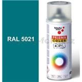 Sprej modrý lesklý 400ml, odstín RAL 5021 barva vodní modrá lesklá