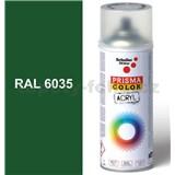 Sprej perleťově zelený lesklý 400ml odstín RAL 6035 barva perleťově zelená lesklá