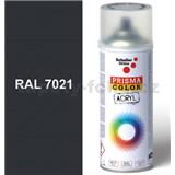 Sprej šedý lesklý 400ml, odstín RAL 7021 barva černo šedá lesklá