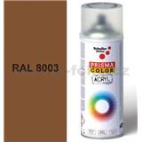 Sprej hnědý lesklý 400ml, odstín RAL 8003 barva hnědá hlína lesklá