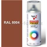 Sprej měděnně hnědý lesklý 400ml odstín RAL 8004 barva měděná hnědá lesklá