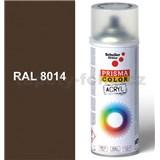 Sprej hnědý lesklý 400ml, odstín RAL 8014 barva sépiově hnědá lesklá