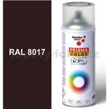 Sprej čokoládově hnědý lesklý 400ml, odstín RAL 8017 barva čokoládově hnědá lesklá