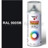 Sprej černý hedvábně matný 400ml, odstín RAL 9005 barva černá hedvábně matná