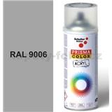 Sprej šedý lesklý 400ml, odstín RAL 9006 barva bílá hliníková lesklá
