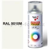 Sprej bílý hedvábně matný 400ml, odstín RAL 9010 barva bílá hedvábně matná