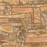 Vinylové tapety na zeď Stones and Style - horský kámen