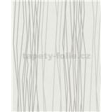 Vliesové tapety na zeď Summer Time proužky bílo-šedé