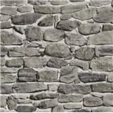 Papírové tapety na zeď kamenná zeď šedo-hnědá