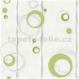 Vliesové tapety na zeď kolečka zelené