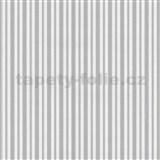 Vliesové tapety na zeď Hypnose pruhy šedé - POSLEDNÍ KUSY