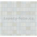 Vliesové tapety na zeď Easy Wall obklad kachličky světle hnědo-modré