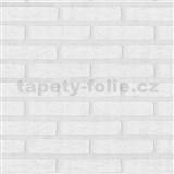 Vliesové tapety na zeď Wood n Stone cihla bílá