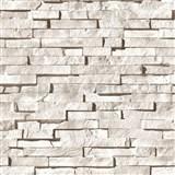 Vinylové tapety kamenná stěna světle hnědá